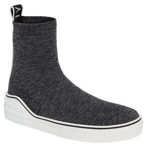 GIVENCHY GEORGE V KNIT SOCK SLIP ON SNEAKERS GREY